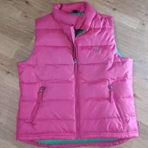 Duck Head Jeans Co size medium puffy vest pink
